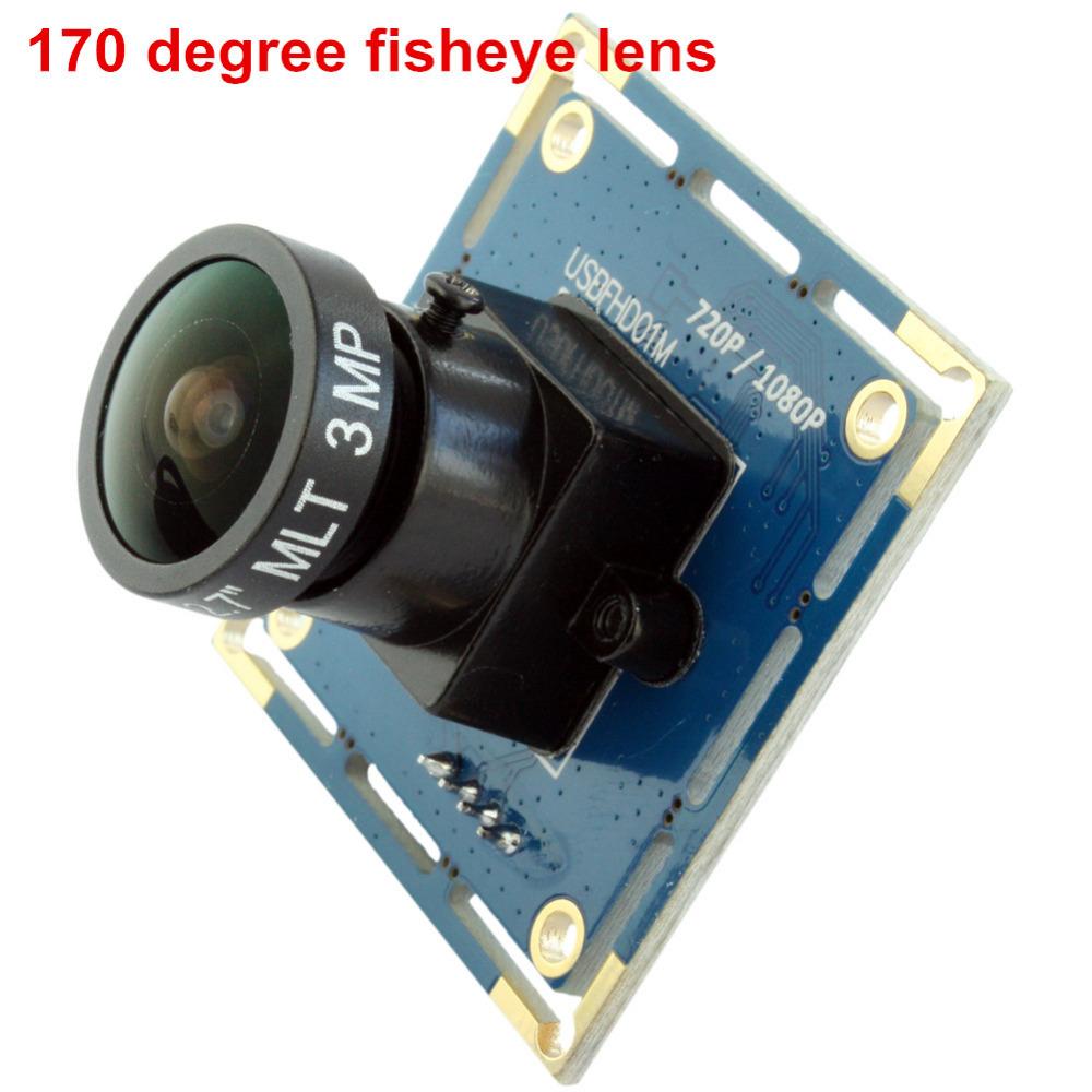 Wide angle hd 2mp 1080p cmos 170 degree fisheye lens digital usb camera module ELP-USBFHD01M-L170