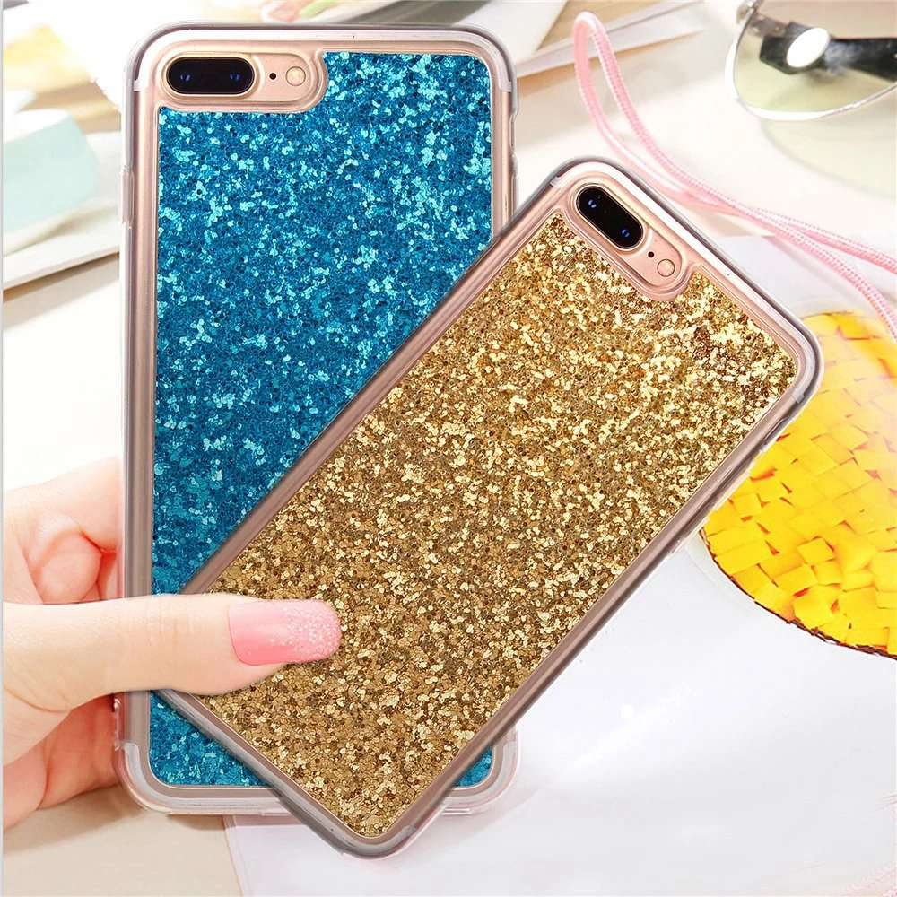Bling Glitter Cell Phone Back Case Cover For iPhone 6 6S Case Soft TPU Shimmering Powder Case For iPhone 6 6S Plus(China (Mainland))