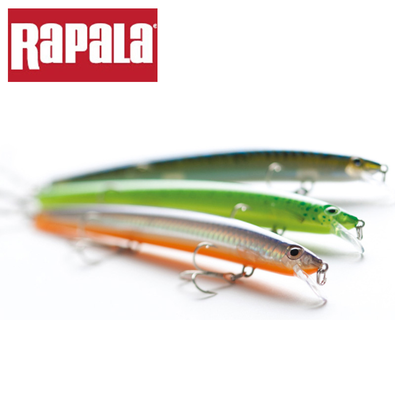 100% Original Rapala Brand Popular MaxRap Series MXR13 13cm 15g Hard Fishing Lure Suspending Bait Wobbler with VMC Treble Hook(China (Mainland))