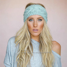 FREE SHIPPING New 19 Colors Knitted Turban Headband For Women Head Wrap Ear Warmer Wide Hair Band Hair Accessories A0411(China (Mainland))