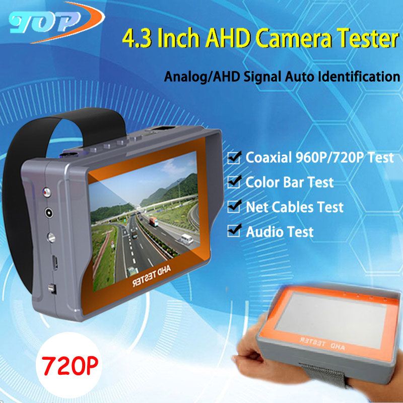 4.3 inch TFT LCD MONITOR COLOR Two in One 960P/720P/960H/D1 AHD CCTV CAMERA TESTER With Network Cable Test Freeshipping(China (Mainland))