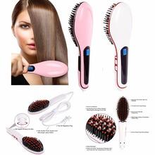 2016 Brand Smoothing Brush Hair Straightener Comb Electric Straightening irons Professional hair Styling Tool(China (Mainland))