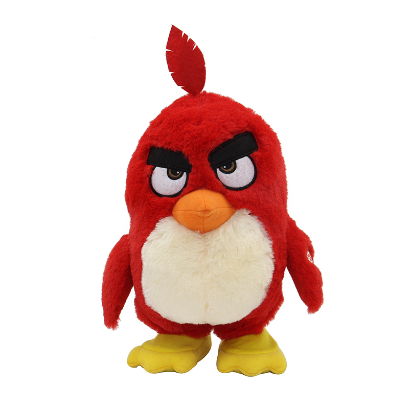 Cute Animated Birds Movie Charater Battery Opprated Walking Talking Plush Toys Children's Best Gift - Red(China (Mainland))