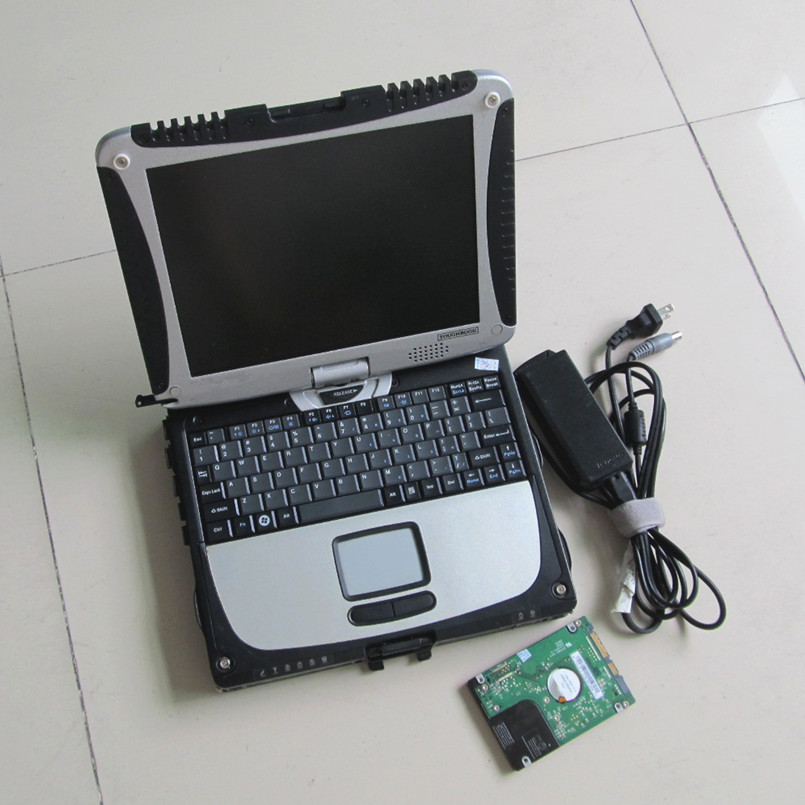 2016 newest 2IN1 mb star sd connect c4 software with for bmw icom a2 software in one 1tb hdd + CF19 Toughbook laptop ready work