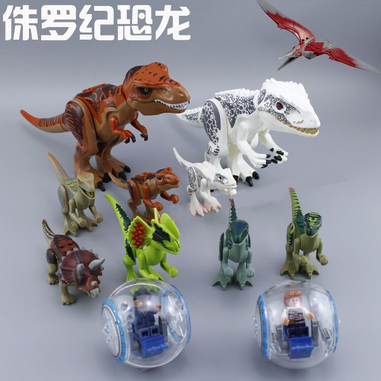 10PCS 79151+77001 Jurassic World Park Minifigures Dinosaur Bricks Figures Blocks Super Heroes baby toys Compatible with Lego(China (Mainland))
