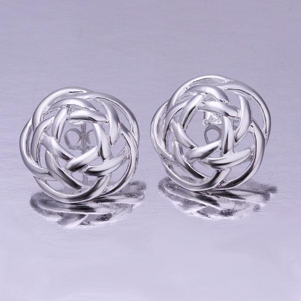 2015 HOT SALE NEW Fashion Woman's 925 Sterling Silver Earrings for women Wholesale Fashion Jewelry flower stud earring