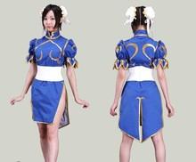 Buy Halloween costumes women anime clothes Street Fighter Chun Li cosplay costume girls fancy dress game costume Cheongsam for $43.23 in AliExpress store
