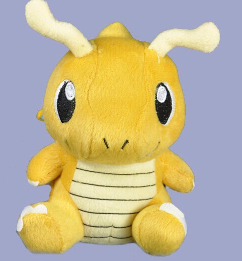 1pcs 15cm Anime Plush Toy Dragonite Cute Collectible Soft Stuffed Animal Doll nice gift for your friend(China (Mainland))