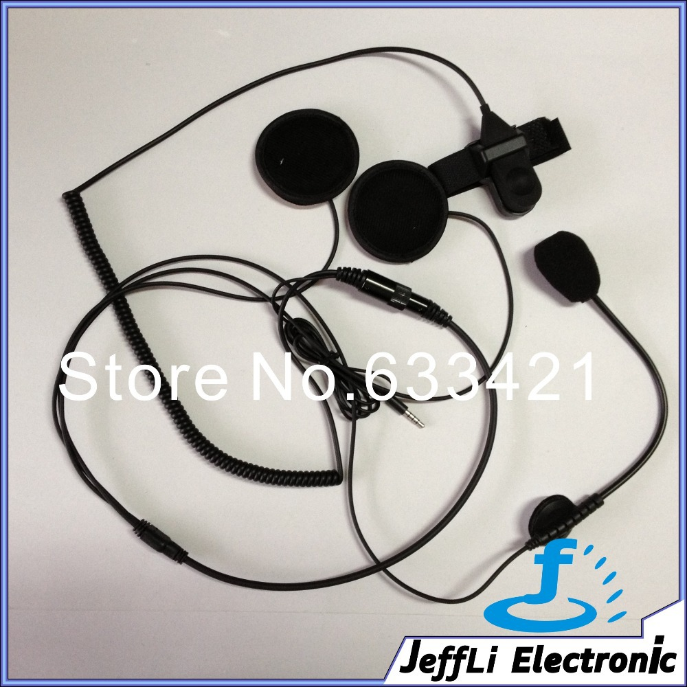 Free Shipping Open Mic motorcycle helmet headset / handset for new iphone 4 4s 5 Black(China (Mainland))