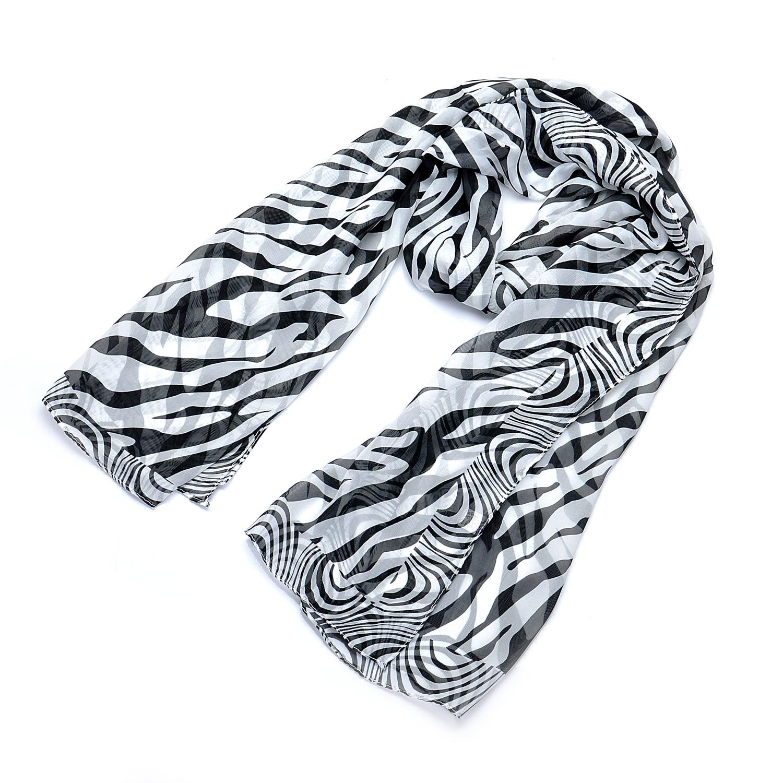 Lureme New Design Fashion Scarf Women Zebra Printing Chiffon Shawls and Scarves for Ladies Foulard (01003954)(China (Mainland))