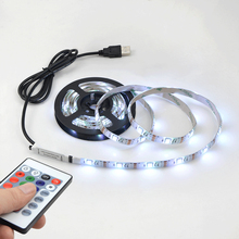 Buy 1Pcs SMD 5050 RGB USB LED Strip light DC5V 0.5M 1M 2M TV / Monitor Background lighting Waterproof Decor LED lamp Adhesive Tape for $6.08 in AliExpress store
