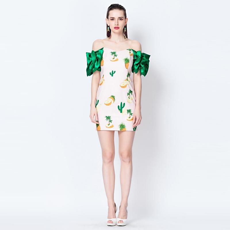 YIGELILA collar Strapless Pink Floral Dress summer 2014 new Euramerican brand short sleeved