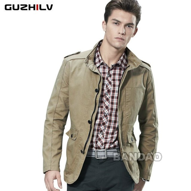 Cotton men Coat casual slim dust Fashion Brand clothes jacket outwear Autumn and  Winter overcoat L-XXXL homens Algodao jaqueta
