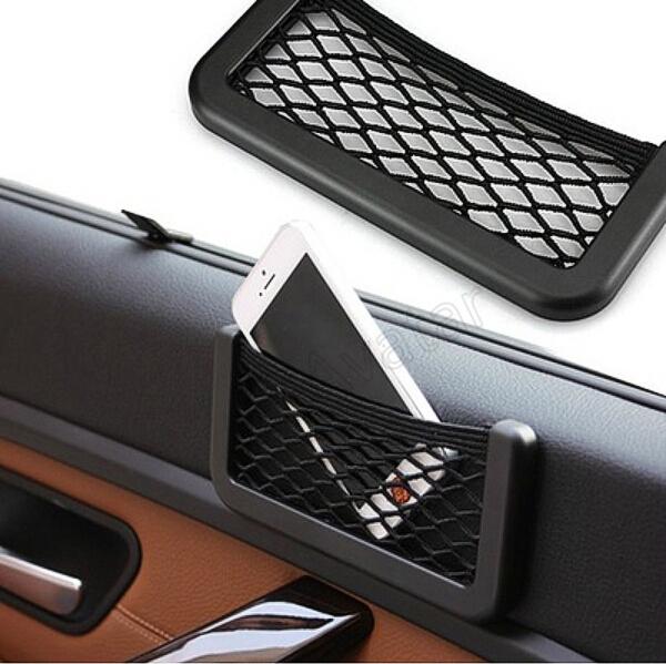 New Car Storage Net Automotive Pocket Organizer Bag For Mobile Phone Holder Auto Pouch Adhesive Visor Box Car Accessories(China (Mainland))
