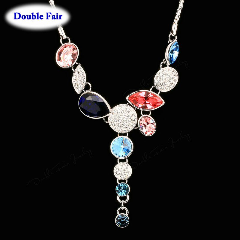 DWN058 Luxury Crystals Exaggerated Party Necklaces & Pendants Wedding Jewelry Vintage Fashion Brand Jewellery Imitation Gemstone()