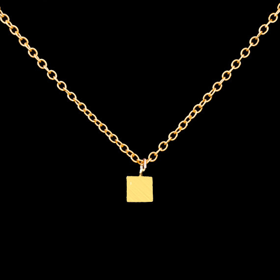 Rose Gold Plated Geometric Vintage Dainty Tiny Cube Choker Necklace 2016 Minimalist Jewelry Stainless Steel Simple Necklace(China (Mainland))