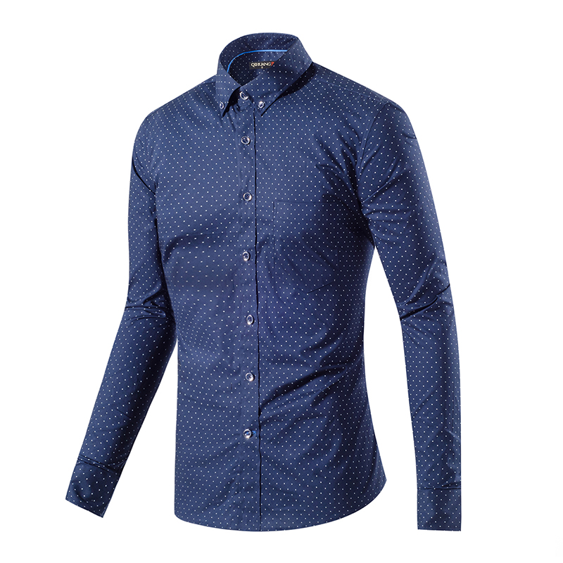 Mens Navy Blue Polka Dot Shirt Promotion-Shop for Promotional Mens ...