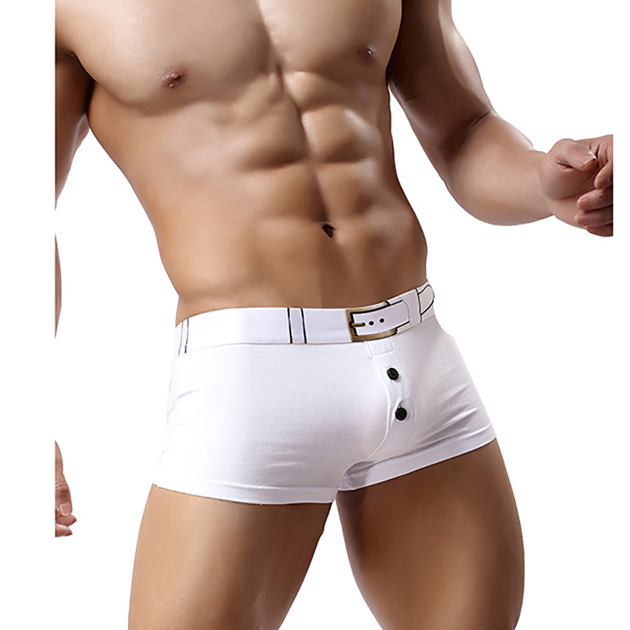 New Arrival Sexy Men's Boxer Shorts High Quality Cotton Men's Underwear Soft Waistband Button Boxer Shorts Free Shipping LOJ403(China (Mainland))
