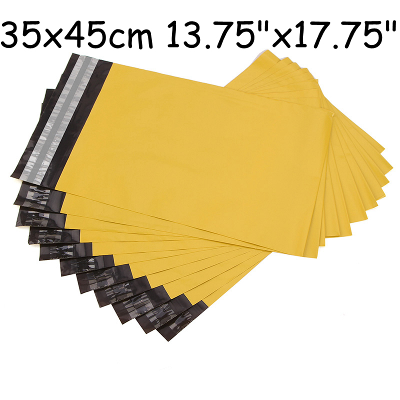 "Size:35x45 cm/ 13.75"" x 17.75"" mailing bags self-seal plastic envelopes yellow mailing envelopes poly mailers envelopes(China (Mainland))"