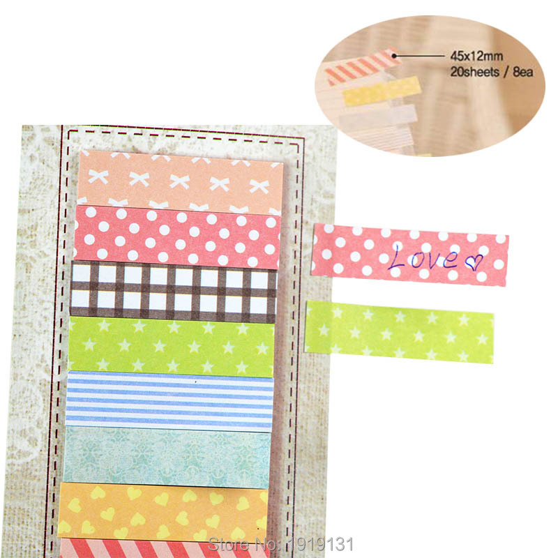 2Lot 160Pages Sticker Cute Kawaii Stickers Bookmark Point It Marker Memo Flags Wall Sticky Notes Scrapbooking Paper(China (Mainland))
