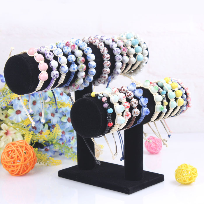 2014 Free Shipping Brand new and high quality 2-Tier Velvet Watch Bangle Bracelet Jewelry Display Holder Stand Rack Wholesale()