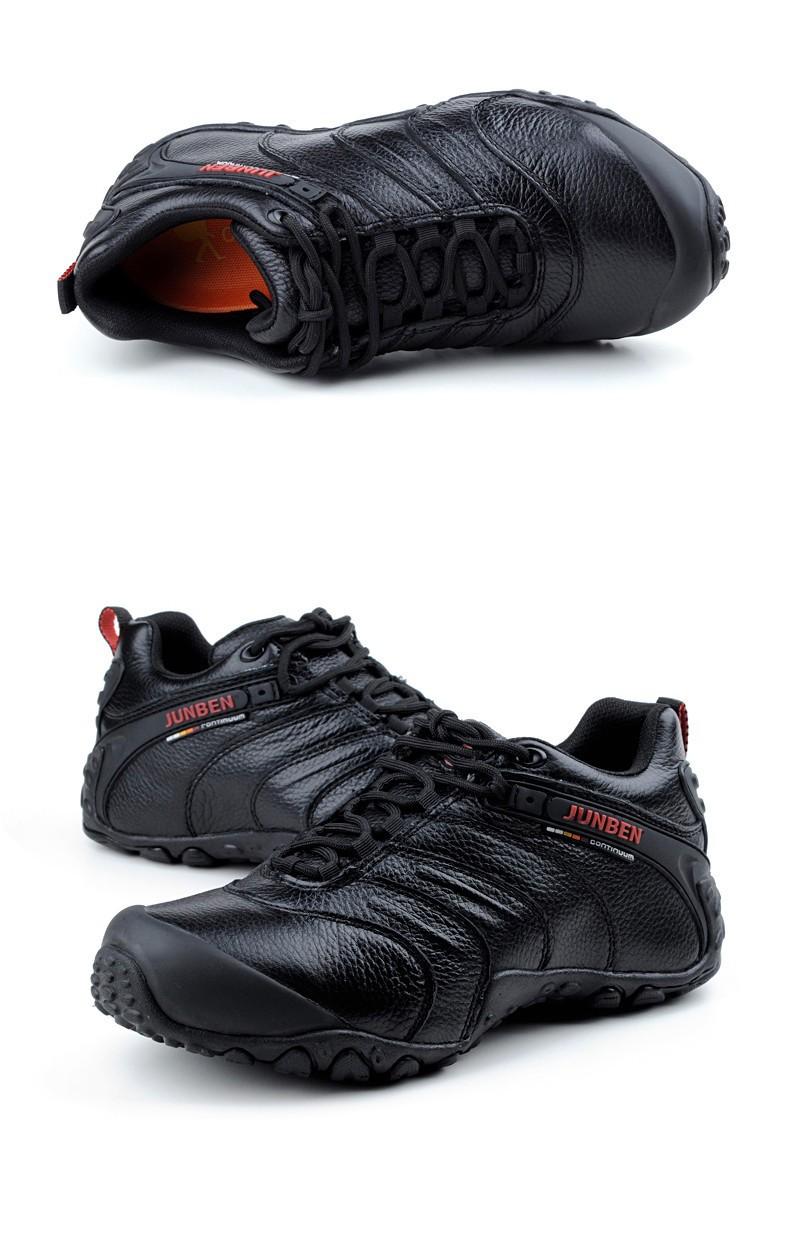 2014 Mens Genuine Leather Hiking Shoes Men Winter Waterproof Outdoor