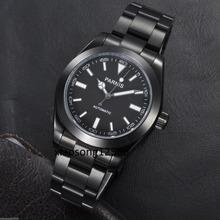 Free shipping 40mm Parnis Japan Miyota Men's Black PVD Automatic Movement Watch(China (Mainland))