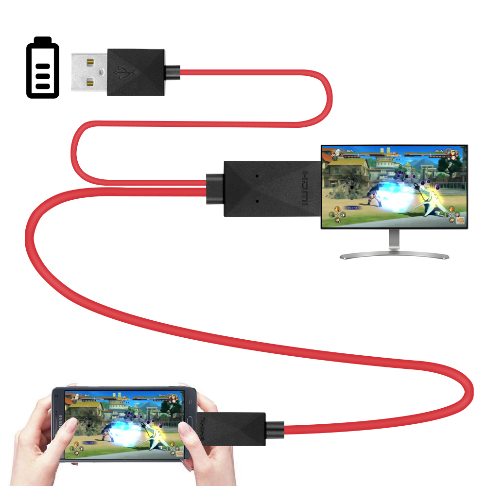1.8M Micro USB MHL to HDMI Cable HDTV Adapter Converter for Samsung Galaxy S3/S4/S5/Note3/Note 2 /Galaxy Tab 3,Tab S,Tab Pro MHL(China (Mainland))