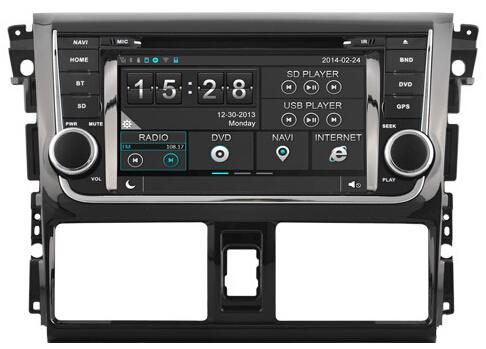 3G Wife Car Autoradio Sat Nav WinCE 6.0 Car Radio GPS Navigation DVD Player Stereo For TOYOTA YARIS IOS 2014(Hong Kong)