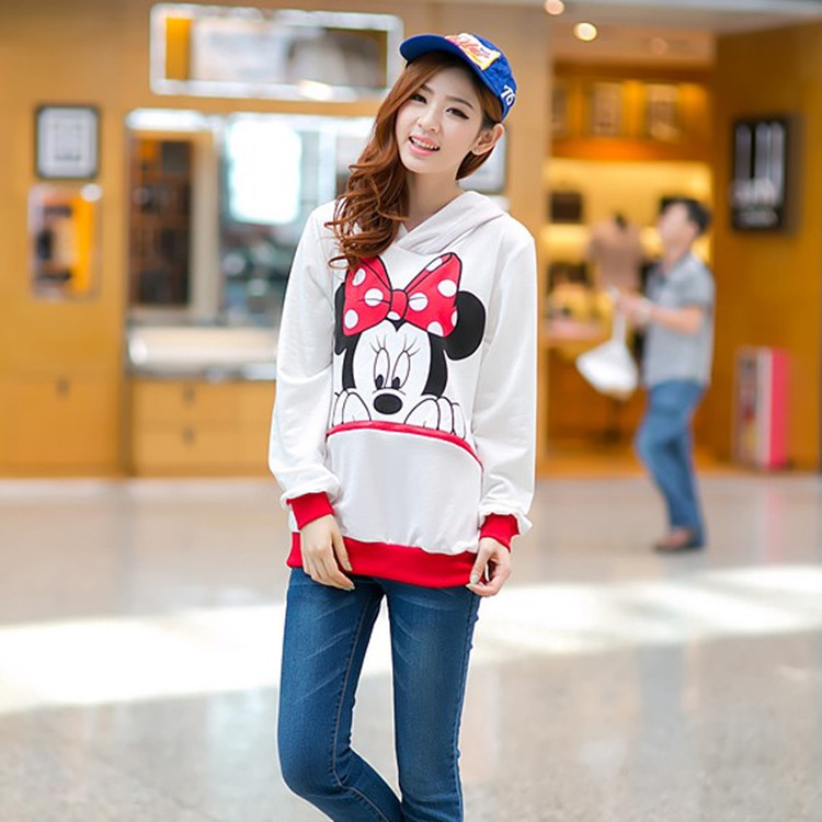 High quality New Arrived  Women Long Hoodies Sweatshirt Lovely Cartoon Mikey Mouse Comfortable Material Pullover Free ShippingОдежда и ак�е��уары<br><br><br>Aliexpress