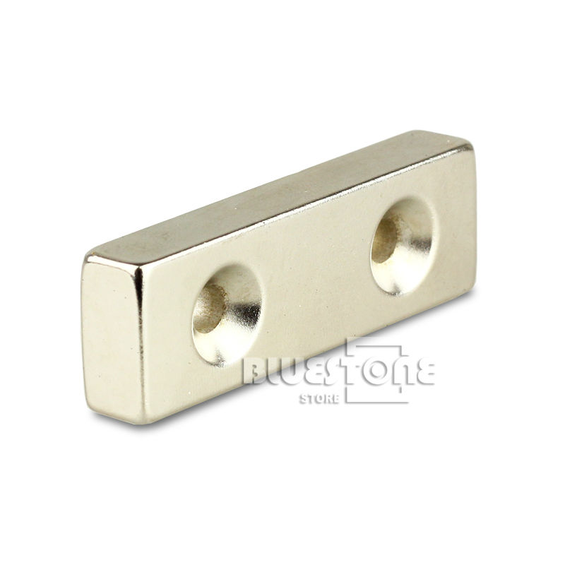 Гаджет  Super Strong Neodymium Block Magnets 60mm x 20 mm x 8mm Countersunk 2 Holes 8mm Free Shipping None Строительство и Недвижимость