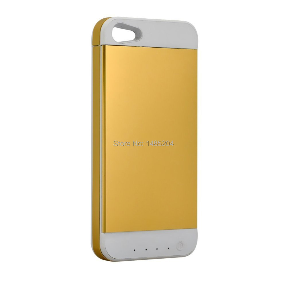 Ultra Thin 3500mAh Rechargeable Portable Extended Battery Case Charger Back Up Power Bank for Phone 5/5S Free Shipping(China (Mainland))