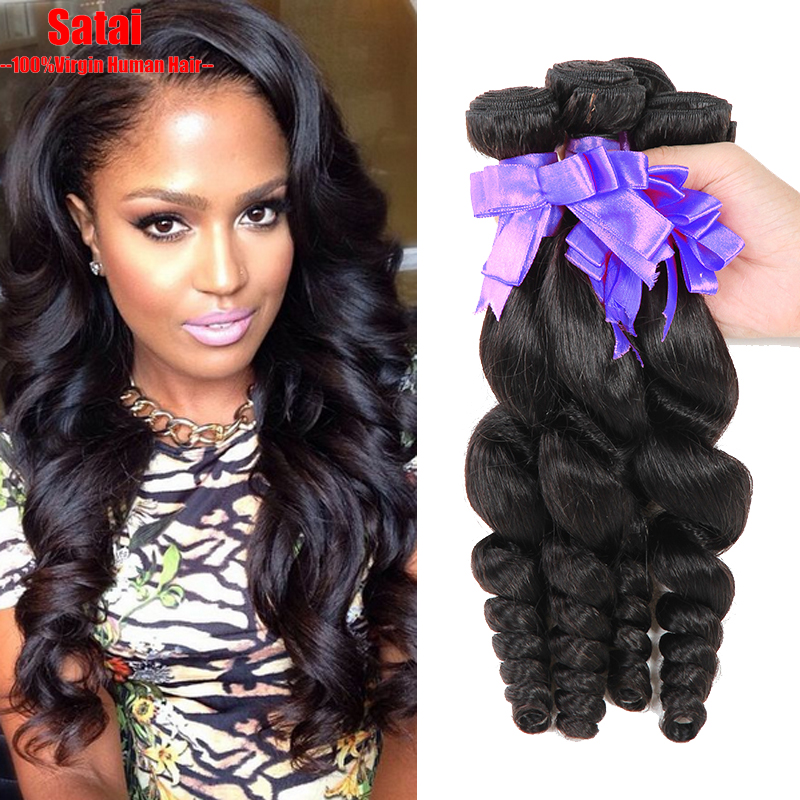 Brazilian Virgin Hair 4Bundles Brazilian Loose Wave 7A Unprocessed Virgin Hair Rosa Hair Products Cheap Brazilian Human Hair