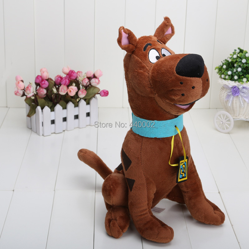 13'' Soft Plush Cute Scooby Doo Dog Dolls Stuffed Toy New Christmas Gifts(China (Mainland))