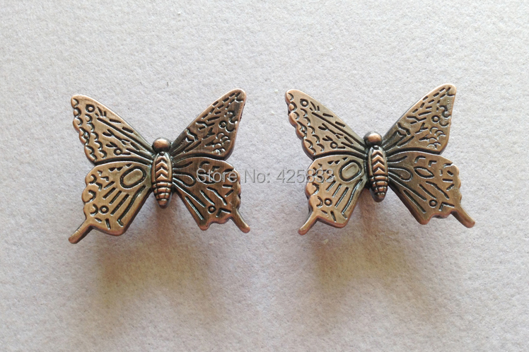 8pcs Red Antique Bronze Butterfly Handles European Archaize Puckering Handle Retro Luxury Drawer Cabinet Wardrobe Door Cupboard(China (Mainland))