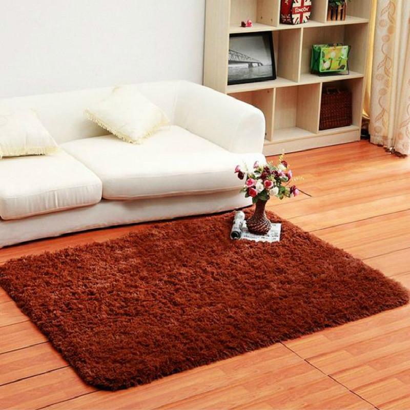 80 120cm fluffy rug anti slip shag area rug living dining
