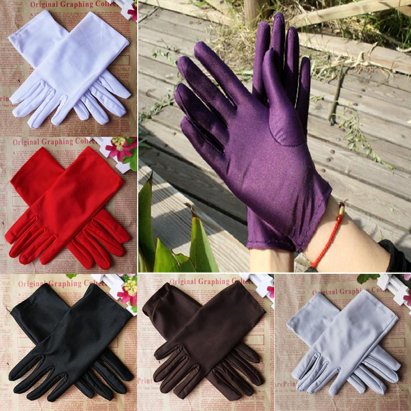 2015 Fall Fashion Candy Colors Women Evening Party Wedding Formal Prom Satin Gloves 2 Pair #67231(China (Mainland))