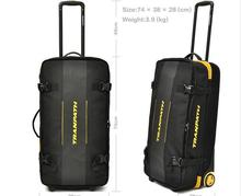 2016 new large weekend bag big overnight bags women 2 wheels sport bag include computer bag(China (Mainland))
