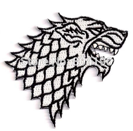 Game of Thrones STARK House Movie TV FILM Embroidered LOGO Iron On Patch Customized patch available(China (Mainland))