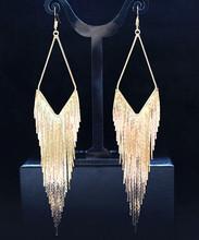 Popular Fashion Dangle Earring Elegant Large Earrings Long Design Vintage Tassel Earring Drop Dangle  Earring(China (Mainland))