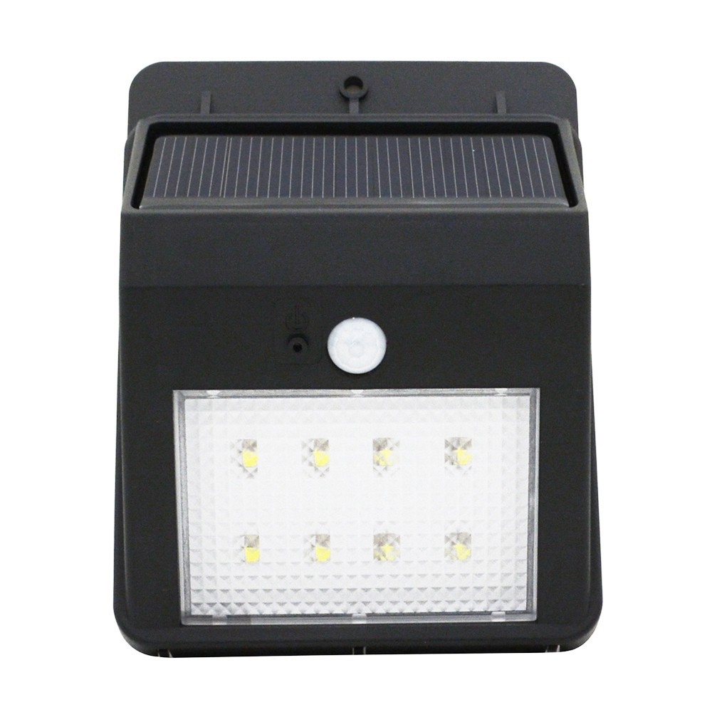 2018 Wholesale Solar Powered 160lm 8 Led Wall Light Auto Motion Diagram Of Street With Intensity Control Save Energy Waterproof Heatproof And Durable Delay Restore Power In Dark Saving Environment Protecting