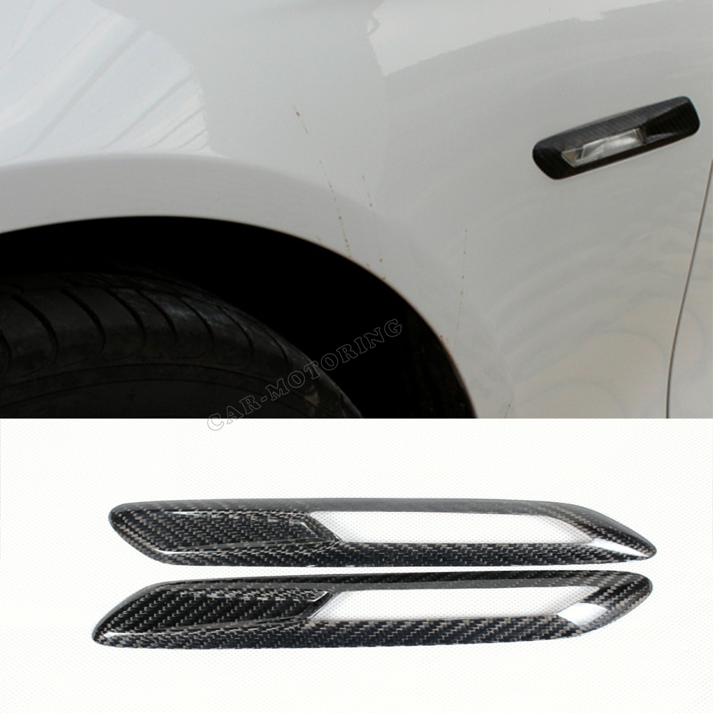 Free Shipping High Quality Carbon Fiber car side lamp cover for BMW F10 fender light cover caps good fitment<br><br>Aliexpress