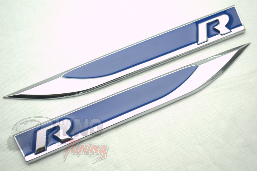 20pc r logo car side wing blue r line fender sticker for. Black Bedroom Furniture Sets. Home Design Ideas
