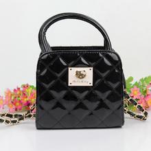 Free Shipping CChildren Princess hello Kitty Bag Handbags cartoon Mini size Metal Chain Girls PU leather