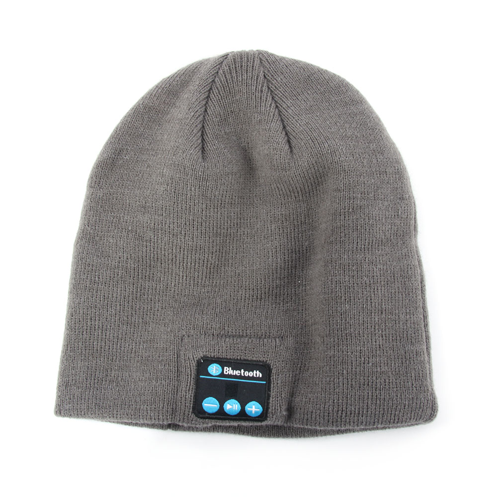 New Arrival <font><b>Warm</b></font> Smart Bluetooth <font><b>Cap</b></font> Soft Beanie Hat Wireless Headphone Headset Speaker Mic
