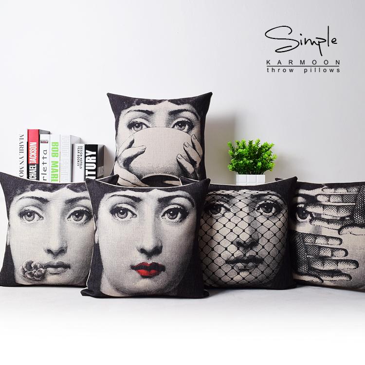 2015 <font><b>Italian</b></font> Fornasetti Pillow Art Bedroom A Living Room Cushion Bedding Set Fashion <font><b>Decorative</b></font> <font><b>Home</b></font> pillow dakimakura