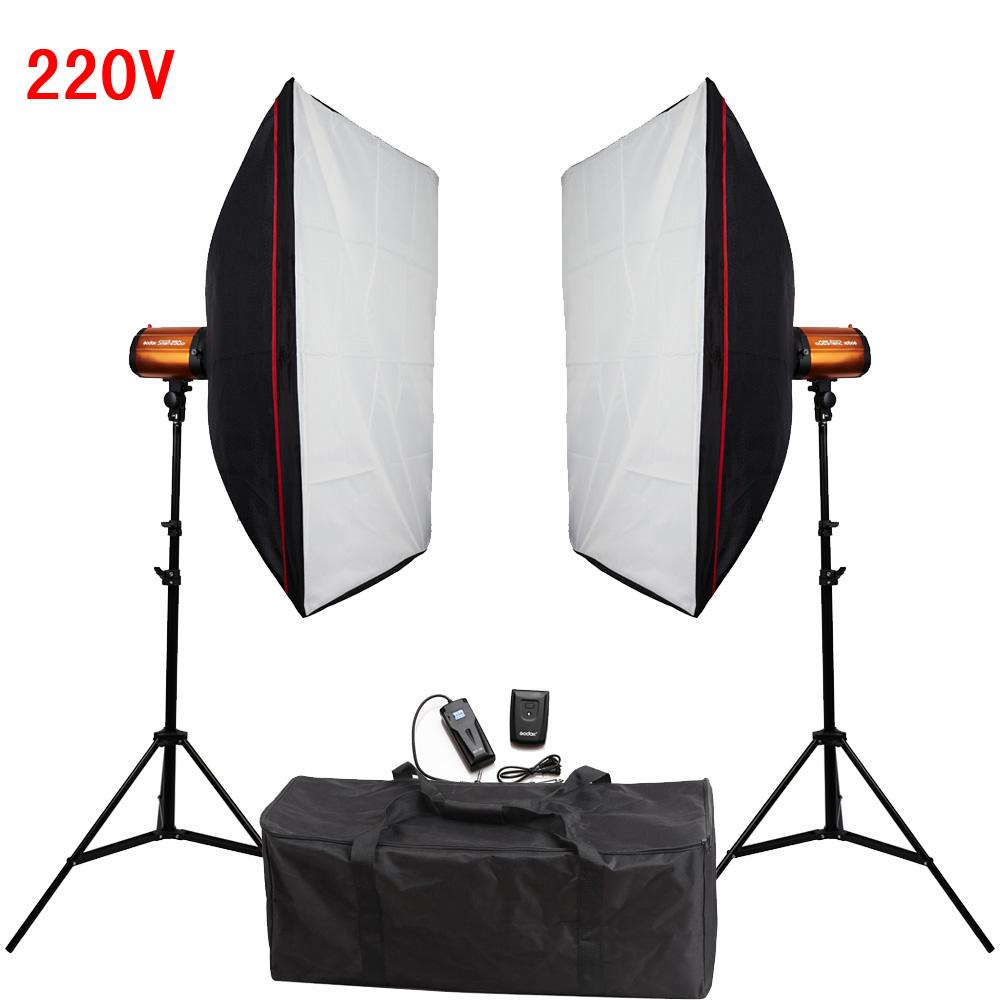 Photography Studio Soft Box Flash Lighting Kit 500W 220V Flash Light+Softbox+Light Stand*2+Photo Flash Sync Trigger Receiver Set<br><br>Aliexpress