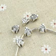 Buy 15 pcs tibetan silver beads angel charms metal loose bead Fit European bracelet Jewelry making 1818 for $1.31 in AliExpress store