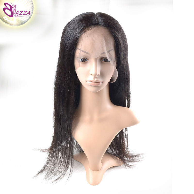 2016 BAZZA wigs full lace human hair lace front wigs black women Brazilian Virgin Kinky Straight Lace Front Wigs(China (Mainland))