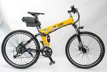 Cheap Cool Electric Bike 36V 350W Electric Bicycle Yellow Color, Foldable Frame with 36V 11Ah Seatpost Lithium Battery(China (Mainland))